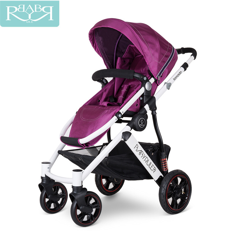 Folding Baby Stroller For dolls Baby Carriage For Newborns High View Pram ...