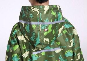 Image 3 - Chubasquero de dinosaurio para niños, capucha impermeable chubasquero para niños mono traje de lluvia, estudiantes bebé capa de lluvia poncho