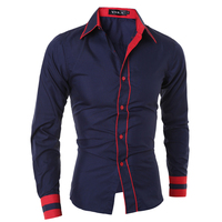 Men Shirt 2017 Fashion Brand Men S Solid Color Long Sleeved Shirt Male Camisa Masculina Casual