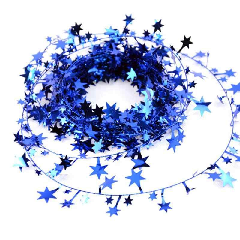 5M 5 Colori Di Natale Albero di natale Appeso star Pino Tinsel star s Rattan Ghirlanda Di Natale Decorazione Ornamento