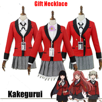 Anime Kakegurui Cosplay Costume Yumeko Jabami Kirari Momobami Japanese School Girls Uniform Full Set Compulsive Gambler