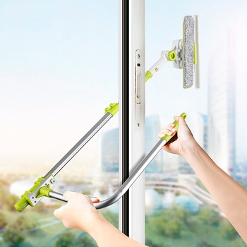 Wonderlife Window Glass Cleaner Sponge Mop Brush Cleaning Tool with Telescopic Foldable Extendable Handle for High-rise Window