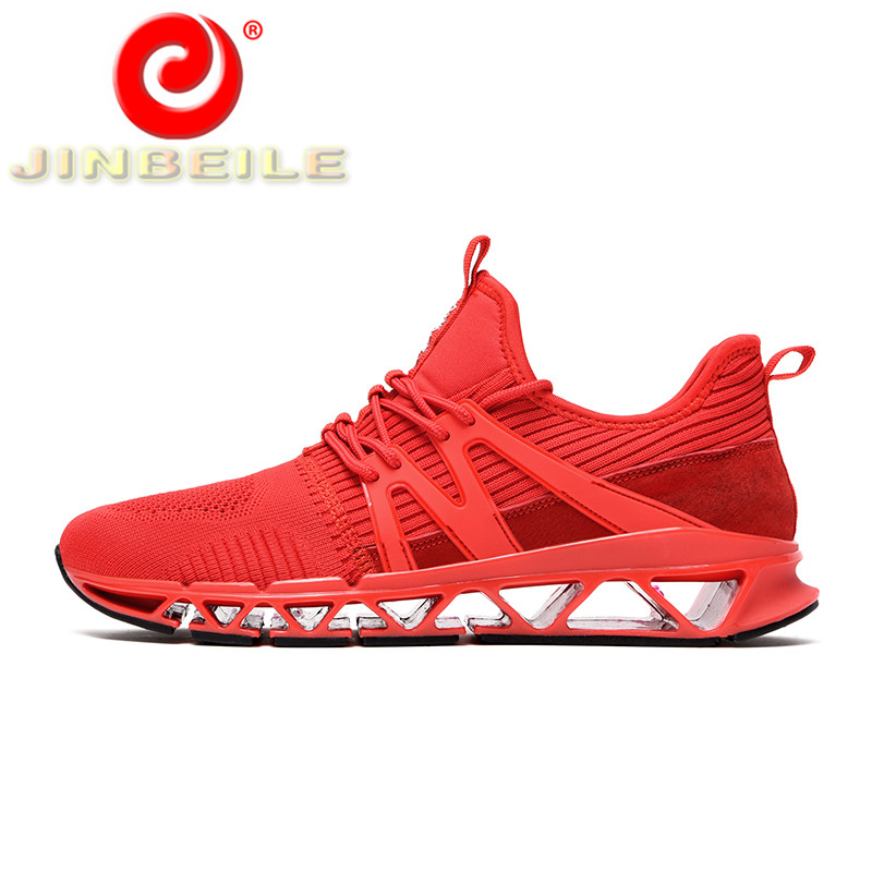 JINBEILE 2018 Newest Design Men Running Shoes Super Breathable Blade Warrior Shoes Men Outdoor Sport Running Shoes Men Sneakers camel shoes 2016 women outdoor running shoes new design sport shoes a61397620