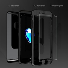 1pcs Shockproof Hybrid 360 Ultra Thin Mirror Hard Case for iPhone X 8 Plus With Screen protector Film