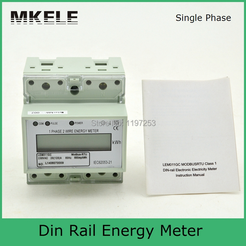2015 newest product Modbus RTU MK LEM011GC afforable energy meter price modbus electric energy meter in Energy Meters from Tools