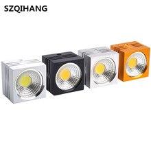Square 10W/15W Dimmable COB LED Down light 2800K 6500K 60 Degree AC110V/220V Downlight