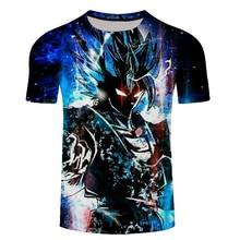 Chegada nova Fresco Goku Dragon Ball Z Hipster 3d T Shirt do Verão de Manga  Curta c0e2707d035