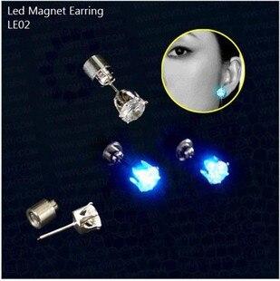 10pcs/lot Party Decors Glowing LED 6mm Zircon Cystal Earrings, LED Diamond Stud Earrings For Wedding Festival Party