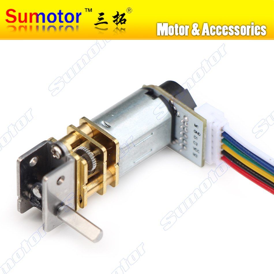 GW12GA DC 6V 12V smallest Worm gear motor Low speed with encoder Reversible Electric engine for Ultra mini Smart car Robot Lock dc motor 12v for children electric car rc car dc engine 6v baby car electric engine rs550 motor with 12 teeth and 8 teeth gear
