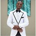 Branco bonito smoking do noivo ternos padrinhos para o casamento Formal Men Suit Custom