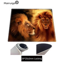 Mairuige Two Lions Large Gaming Mouse Pad Lock Edge Mouse Mat for Laptop Computer Keyboard Pad Desk Pad for Dota CSGO Mousepad