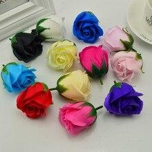 5 шт./лот, 5x6 см, дешевое мыло, голова розы, Романтическая свадьба, день Святого Валентина, подарок на свадьбу, банкет, украшение для дома, ручной цветок, искусство