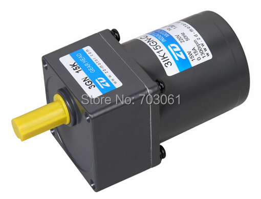 70mm 15W AC gear motor single-phase motor output speed 54 rpm reducer ratio 25  220v 60w ac reversible motor 5rk60gu cf with gear ratio 90 1 output speed is 15 r m gear head 5rgu 90k