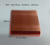 78mm 86mm 9mm Pure Copper Fins Copper Heat Sink Fin Can DIY Extended Cut Short Cooling