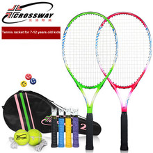 2018 Crossway Brand Tennis Racket For Kids Carbon Aluminum Alloy Raquete De Tenis With Tennis String Bag Children Tennis Racquet(China)