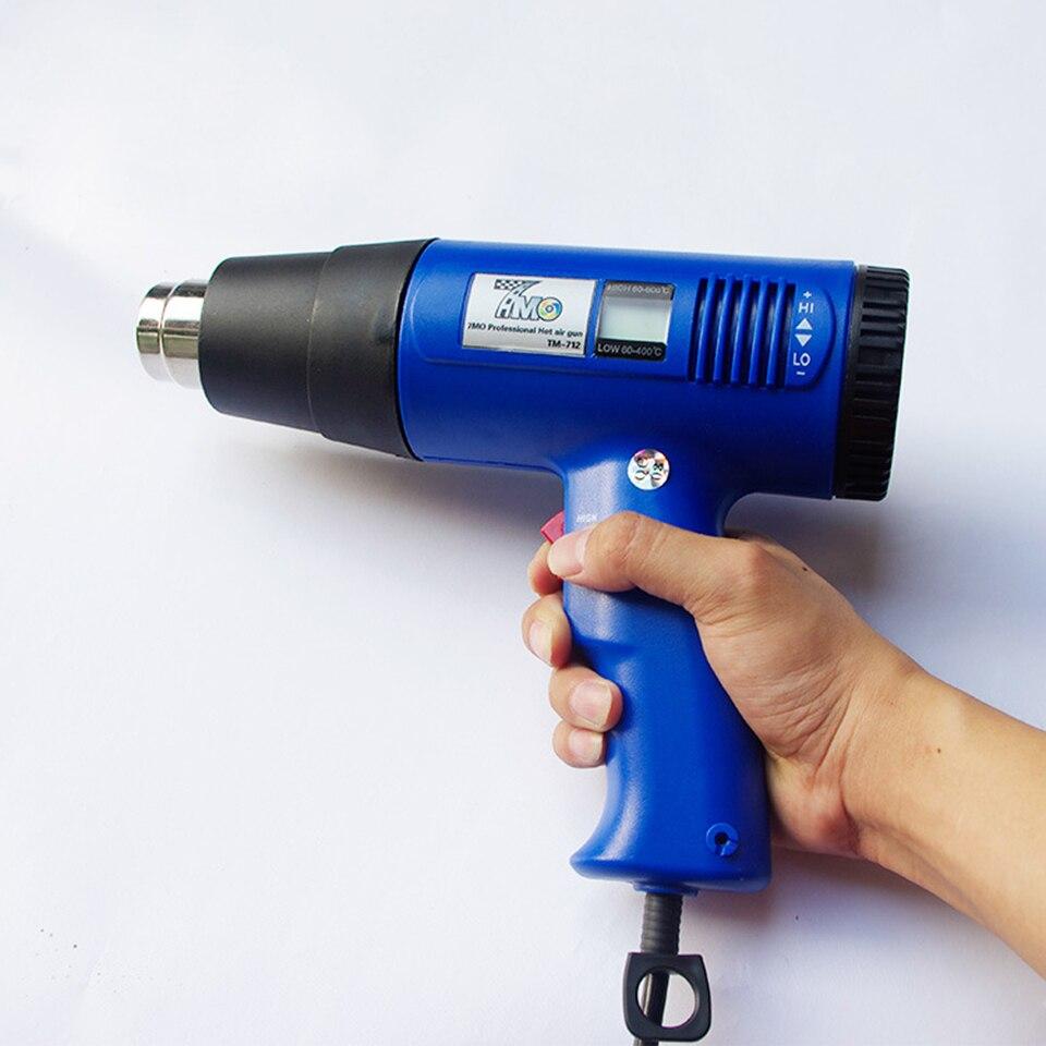 Новое поступление высокое качество 1800 Вт Тепловая пушка с температурным цифровым дисплеем для упаковки автомобиля MO 712-in Наклейки на автомобиль from Автомобили и мотоциклы