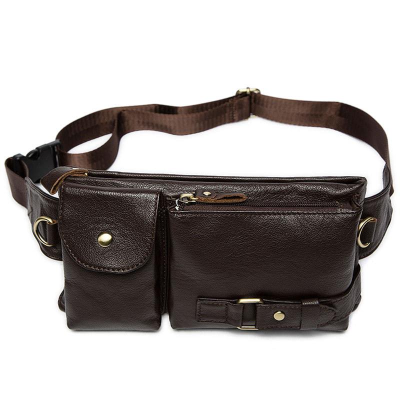 WEIXIER New Casual Soft Material Solid Color Genuine Leather Men 39 s Messenger Bag Men 39 s High Quality Multi Function Messenger Bag in Crossbody Bags from Luggage amp Bags
