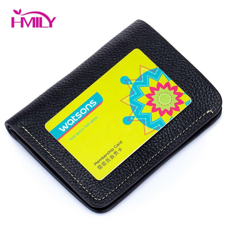 HMILY Frauen Karte Halter Echtes Kuh Leder Frauen Brieftasche Mode Stil Geld Tasche Damen Hohe Qualität Süße Weibliche Kurze