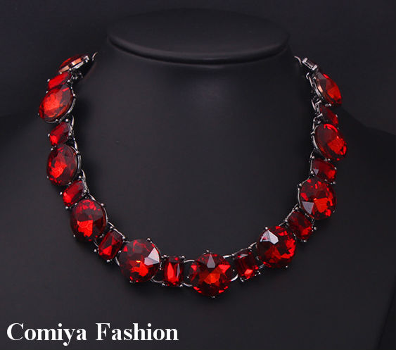 Wholesale globe White red Cryatal fashion jewelry brand glass