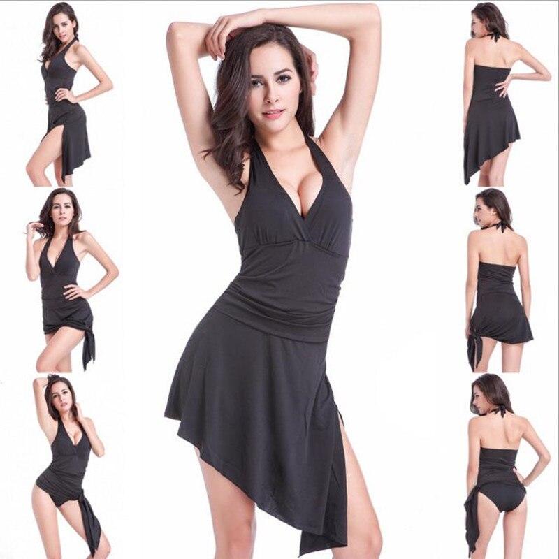 цены Hot Sale Women Multi-Way Wear Solid Color One-Piece Swimsuit Strappy Backless Swimwear Beachwear Sexy Deep V-Neck Padded Bikini