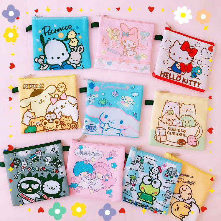 Cartoon Japan Sumikko Gurashi Lovely Frog Melody Big Ear Dog Coin Purses Bags For Girls