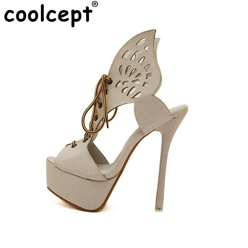 ФОТО women peep toe high heel sandals Ankle Strap fashion Party Shoes Woman Ladies Platform Vintage Shoes Footwear Size 35-46 B241
