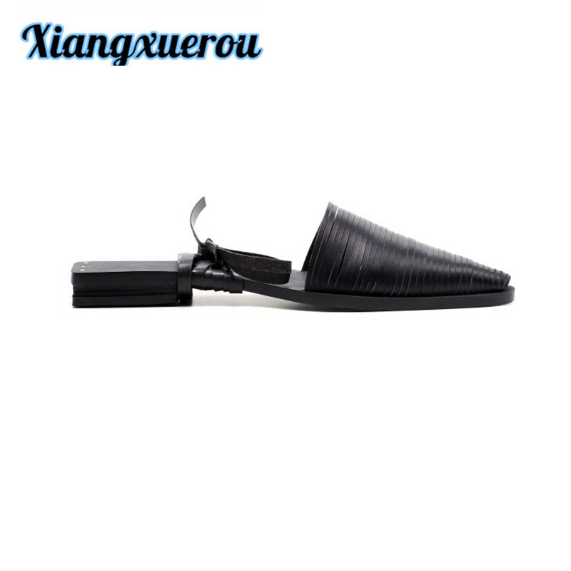 Xiangxuerou A zigzag band with a Roman style hollowed-out head of cow leather and women's sandals. themost sexy fish mouth hollowed out roman sandals fashion foreign trade european and american style four colors can be selected