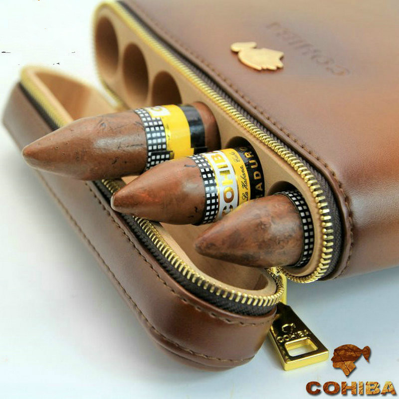 Six Cigar Sheaths With Cigar Moisturizing Tubes Cohiba Cigar Humidor Exquisite Gifts|Cigar Accessories| |  - title=