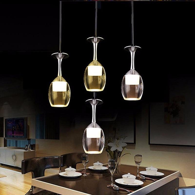 Modern LED Wine Glass  Pendant Lamp Lighting Chandelier New AC 220V  -Y122 modern 3l 5l 6l 8l 10l brass pendant lamp antique brass chandelier vintage total copper glass ac 100% guaranteed free shipping