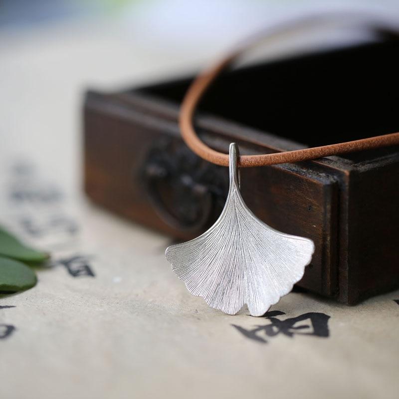 925 ստերլինգ արծաթագույն Ginkgo տերևային - Նորաձև զարդեր - Լուսանկար 5