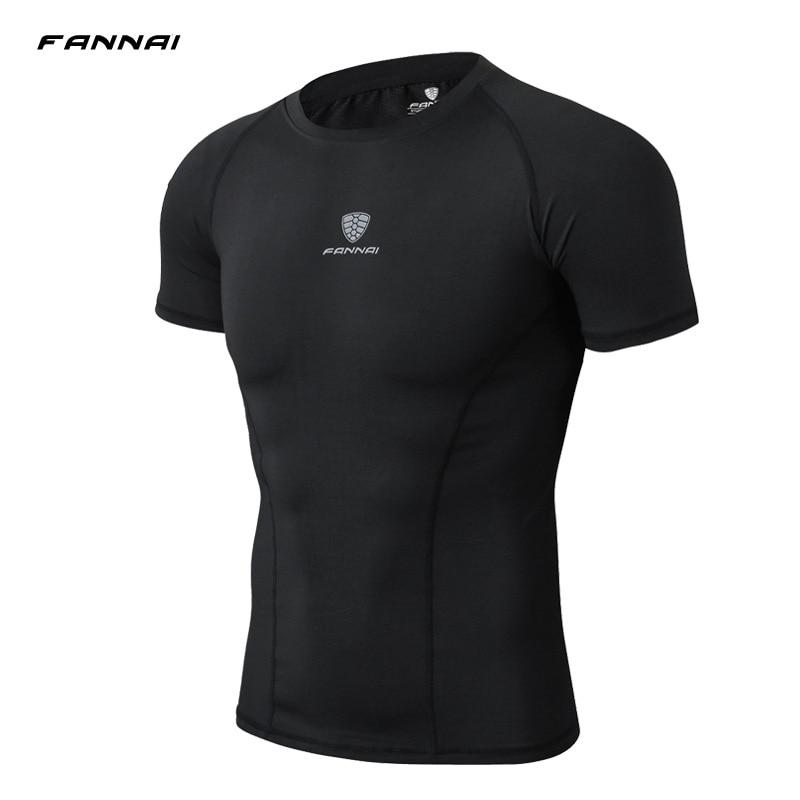 Summer Style Men T shirt Men Fitness Bodybuilding Polyester Short Sleeve Quick Dry Slim Fit T