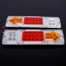 DC 12V 2Pcs Trailer Rear Tail Lights For Motorcycle Truck Ute UTV RV Caravan ABS Waterproof 19 LED
