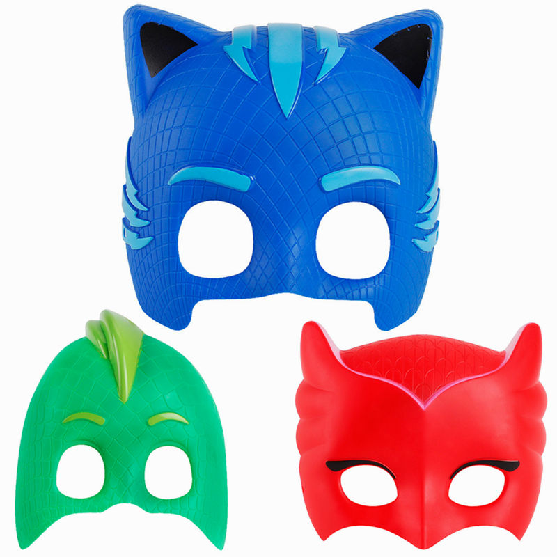 PJmasked Cartoon masked man PJ Masks ABS Cool Cosplay Mask Gift Toy for Halloween Birthday Party Get-together Festival pj cartoon pj masks command center car parking toy lot car characters catboy owlette gekko masked figure toys kids party gift