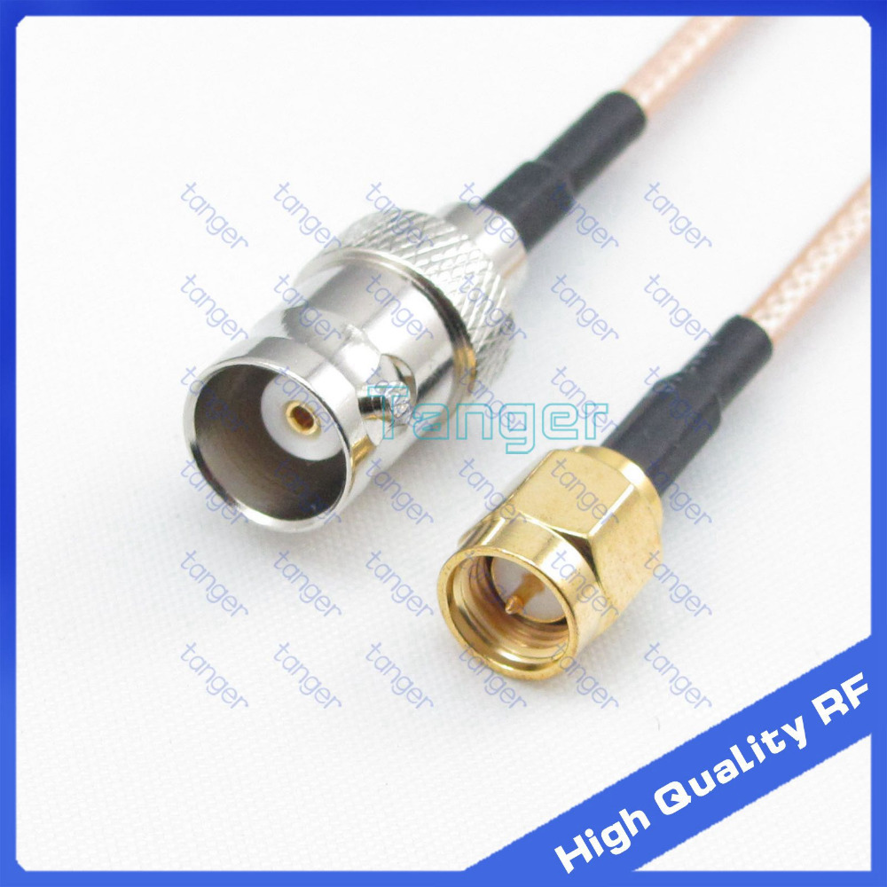 6inch BNC female to SMA male plug with RG-316 RF Coaxial Pigtail Jumper cable 6 15cm Tanger High Quality RF cables extension cord n male to rp sma plug female pin rf connector coaxial adapter 50cm lmr400 pigtail jumper cable free shipping