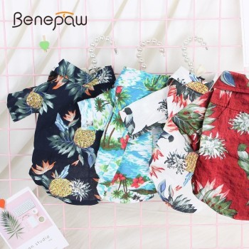 Benepaw Holiday Medium Small Dog Clothes French Bulldog Chihuahua Pet Clothing Fashion Suit For Dog Outfit Shirt Spring Summer