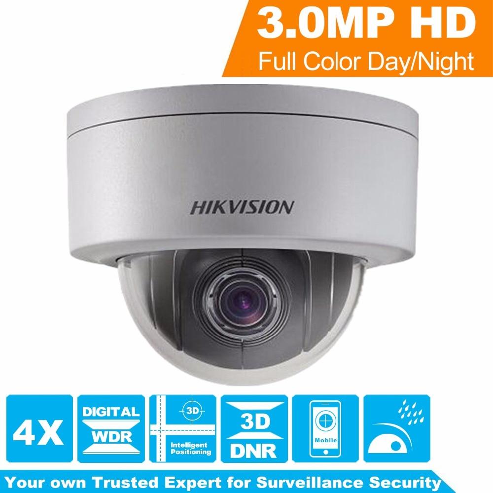 Originale Hikvision PTZ Macchina Fotografica del IP di DS-2DE3304W-DE 3MP Network Mini Dome Camera 4X Zoom Ottico EZVIZ Supporto con DS-1273ZJ-PT6