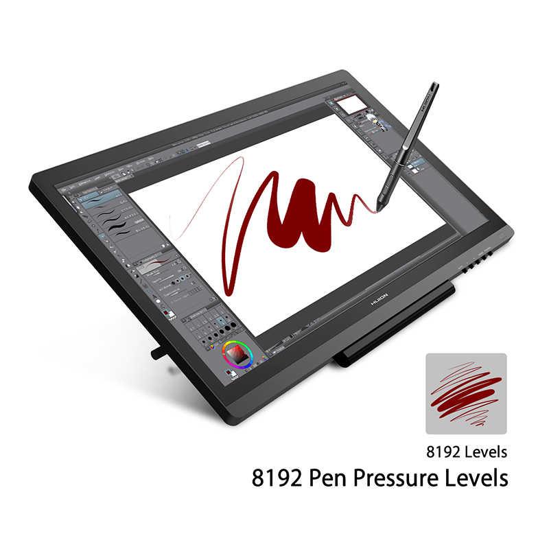 HUION KAMVAS GT-191 V2 pióro Tablet rysowanie Monitor pióro Monitor z bez pałeczki rysik 8192 ciśnienie pióra