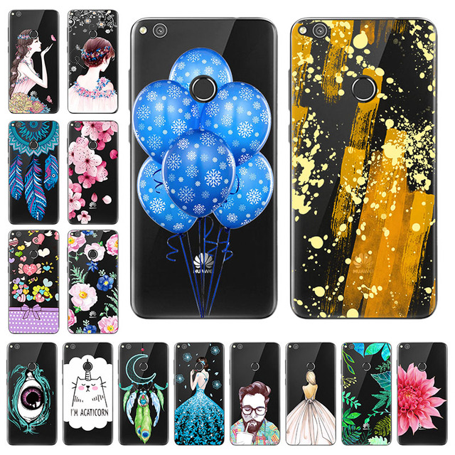 "Phone Cases for Huawei P8 Lite 2017 Case Silicon Huawei Honor 8 Lite Case Cover 5.2"" Soft TPU Phone Shell P9 Lite 2017 Nova"