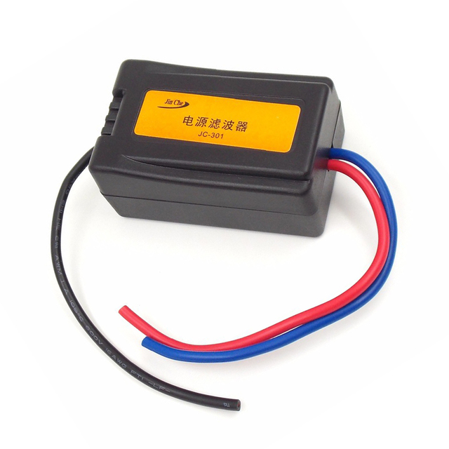 Special Offers Eliminate the interference noise power Audio power filter Filtering the noise 12V Motorcycles Car