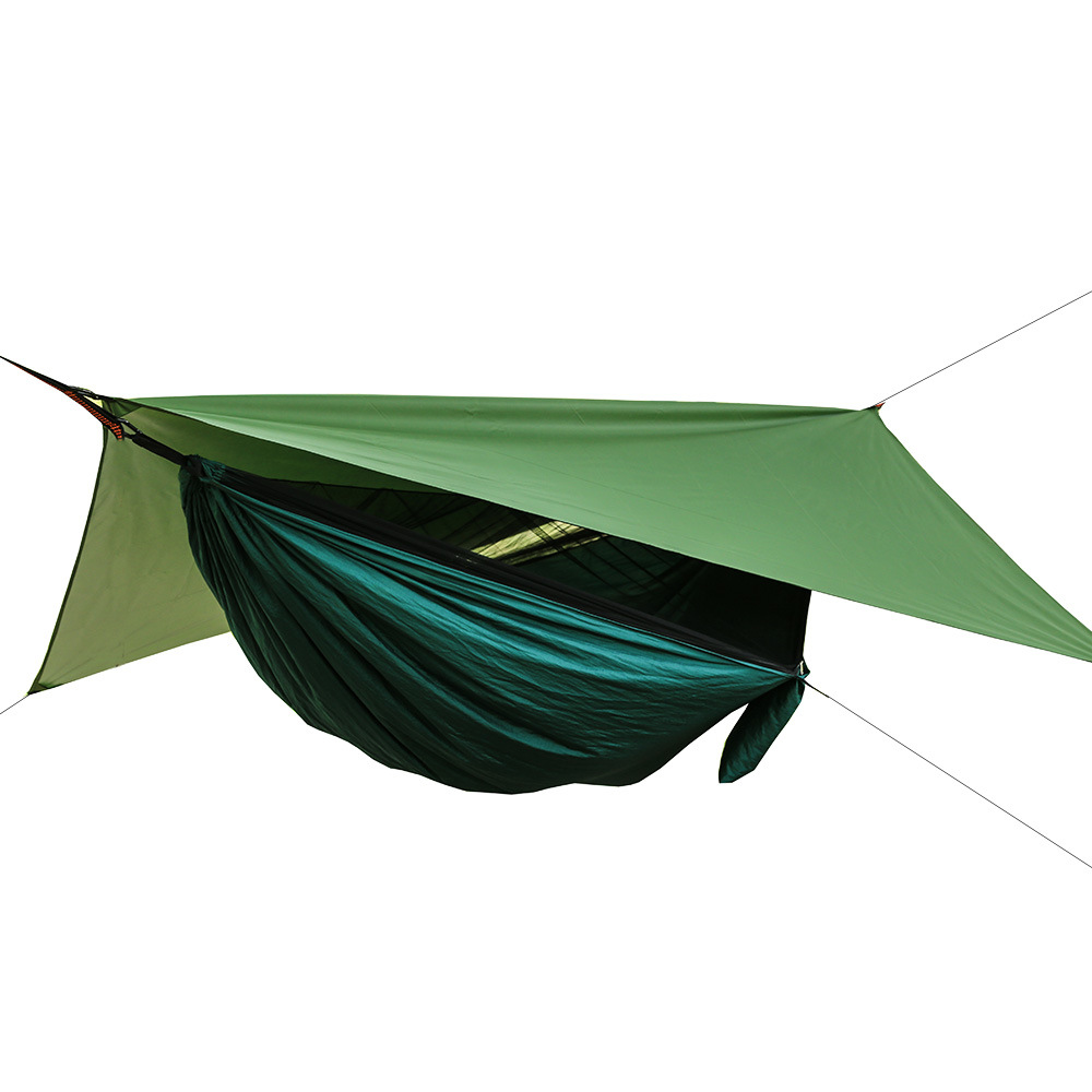 3in1 Automatic Expansion Ultra Light Waterproof Sunshade Hammock Mosquito Net Double Outdoor Furniture Hammock 290x140cm