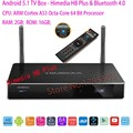 Himedia h8 plus, quente, 4kp60, h265, 10bit hevc, rk3368 8 núcleo caixa de tv android, smart tv iptv set top box, 2g 16g rom, kodi, 2.4/5g wifi, bt4