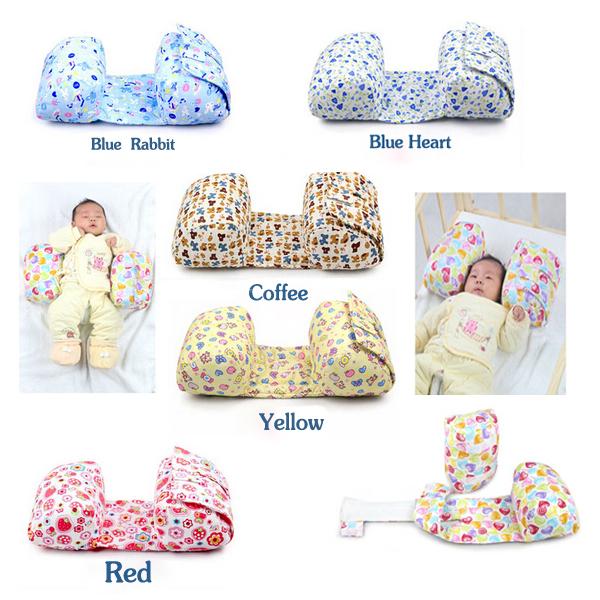 Bebê travesseiro confortável travesseiro de algodão quente ajustável rolo dormir almofadas 5 cores