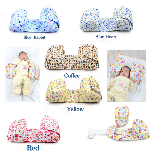 New Baby Pillow Comfortable Cotton Warm pillow  Anti Roll Sleeping Adjustable Pillows 5 Colors