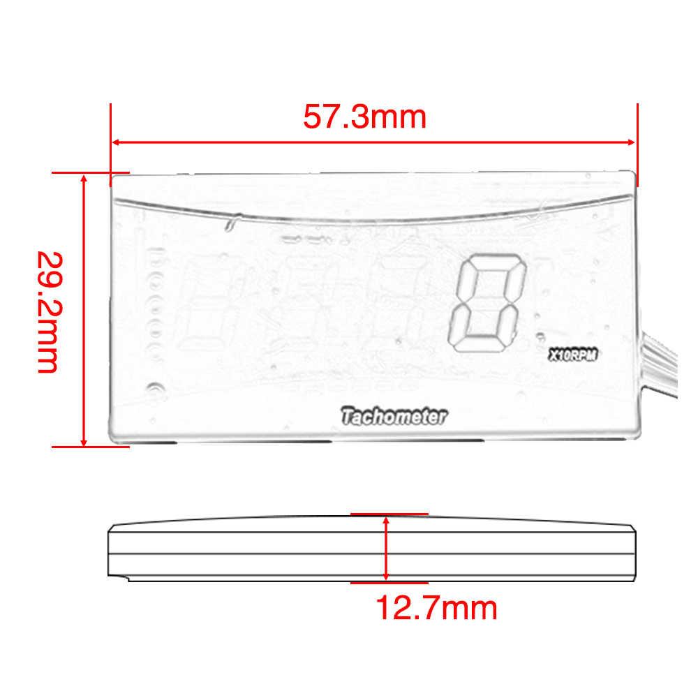Zsdtrp Universal Motor Instrumen LED Digital Gear Tampilan Tachometer Satria Fu Tahan Air untuk Yamaha Honda Suzuki BMW