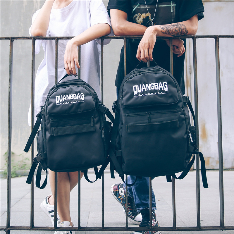 Newest Fashion Hip Hop Travel Backpacks Hip-hop Backpack For Teenagers Boys/Girls School Bags High Street Back Pack Male/female недорго, оригинальная цена