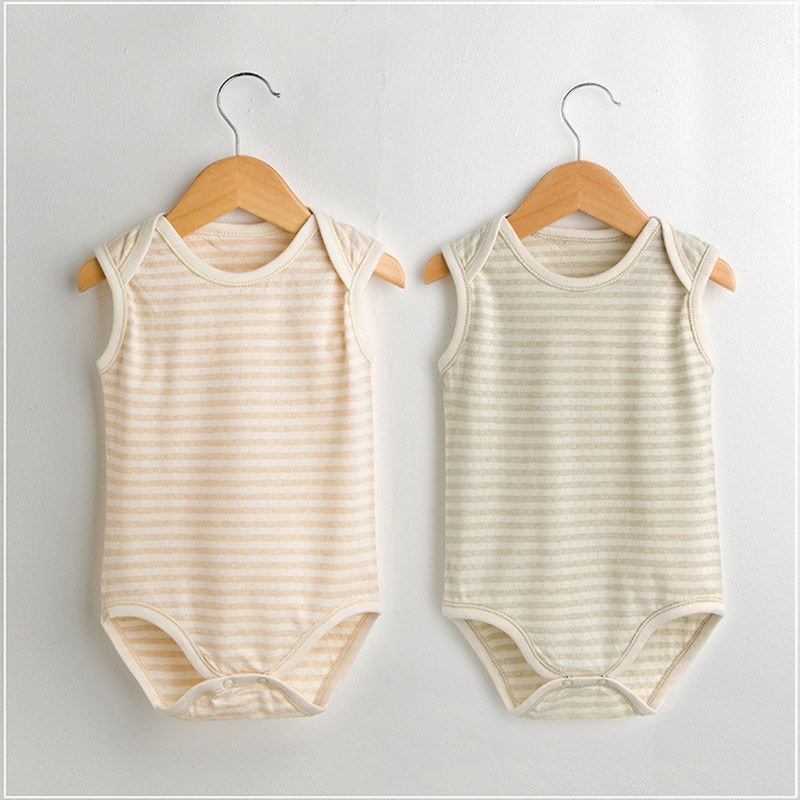 2018 Baby bodysuit summer newborn Outfits Baby girl boy clothes Organic cotton baby boys