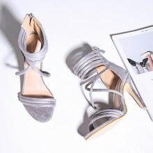 aa74c43a3 2018 novo verão Europeu e Americano de comércio exterior de super salto  alto sapatos único de
