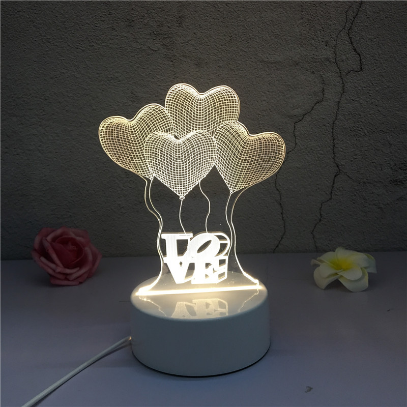 Image 2 - SOLOLANDOR 3D LED Lamp Creative 3D LED Night Lights Novelty Illusion Night Lamp 3D Illusion Table Lamp For Home Decorative Light-in LED Night Lights from Lights & Lighting
