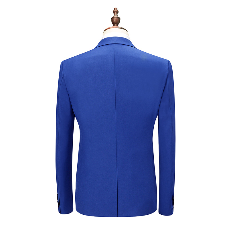 Men 39 s Wedding Suits 2019 High Quality Royal Blue Mens Tuxedos Terno Masculino Slim Fit Mens Suits 3 Pieces Jacket Pant Vest in Suits from Men 39 s Clothing
