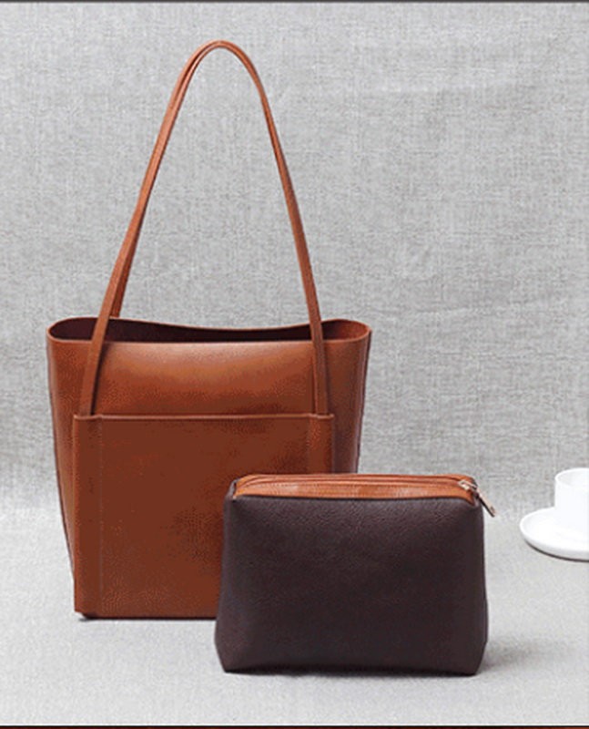 Genuine Oil wax cowhide leather women's shoulder bag soft leather handle bags free shipping